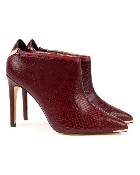 937a84e7af88 NAVLIG - Pointed ankle boot - Red