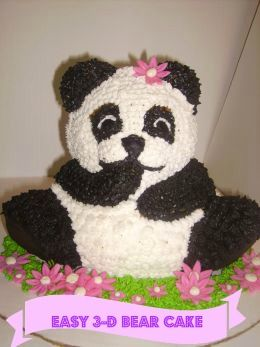 Groovy How To Make A 3D Bear Cake Panda Bear Cake Teddy Bear Birthday Funny Birthday Cards Online Inifofree Goldxyz
