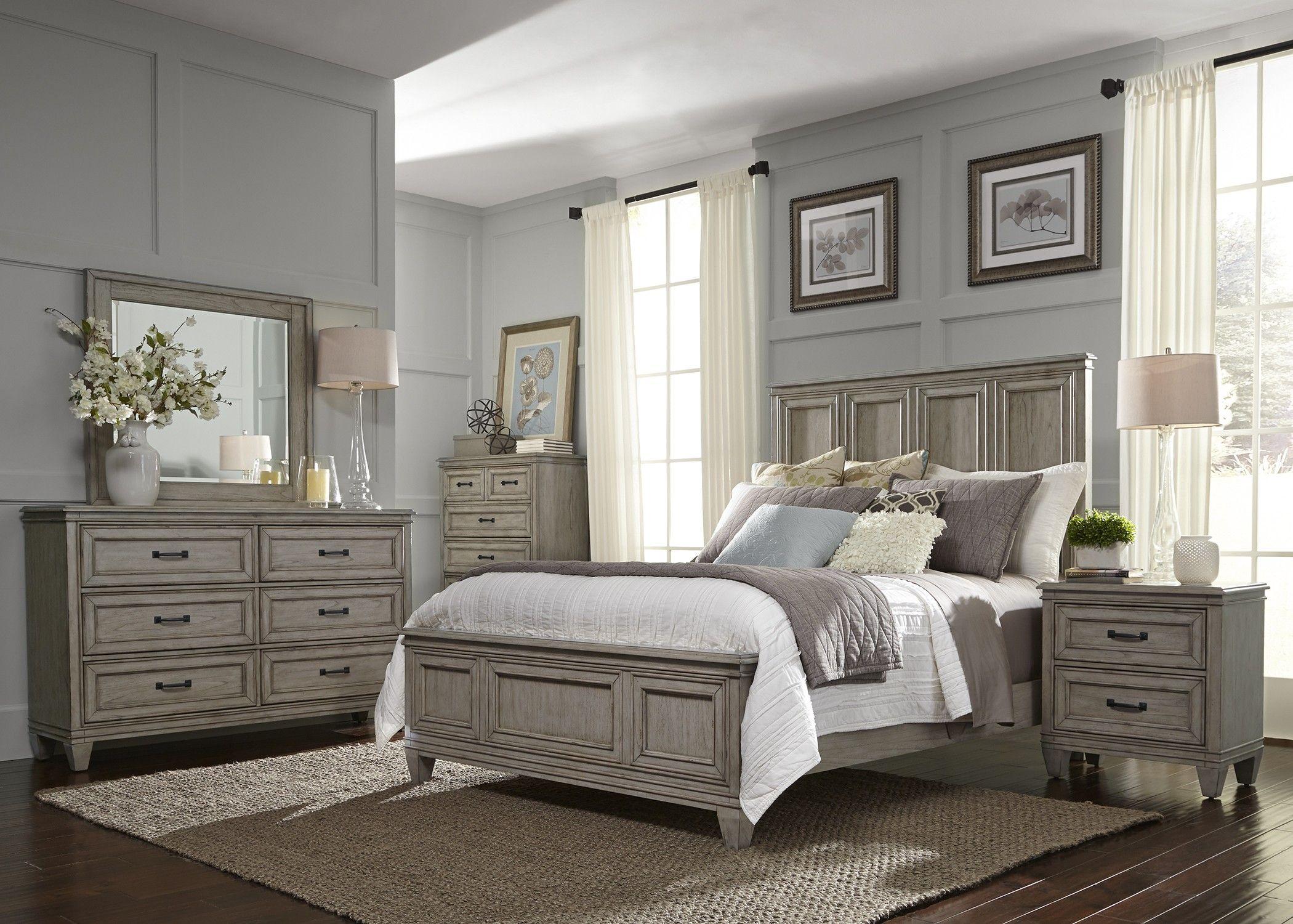 Grayton Grove Driftwood King Panel Bed Liberty Furniture King
