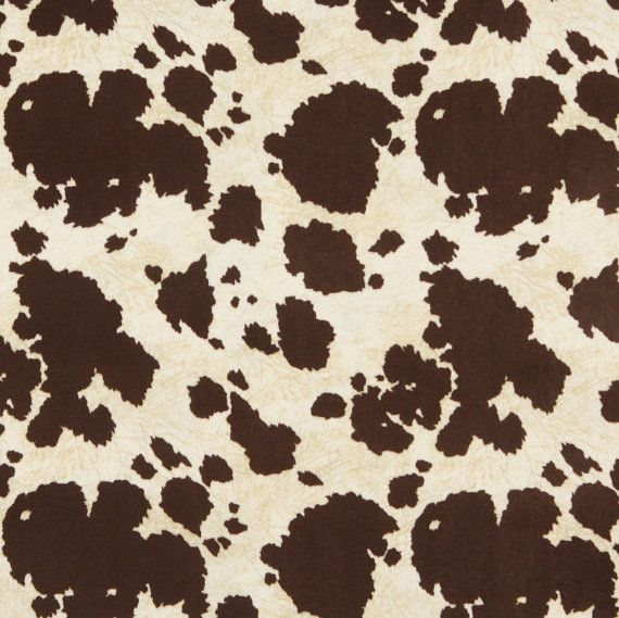 Brown And White Cow Print Microfiber By Edfabrics On Etsy