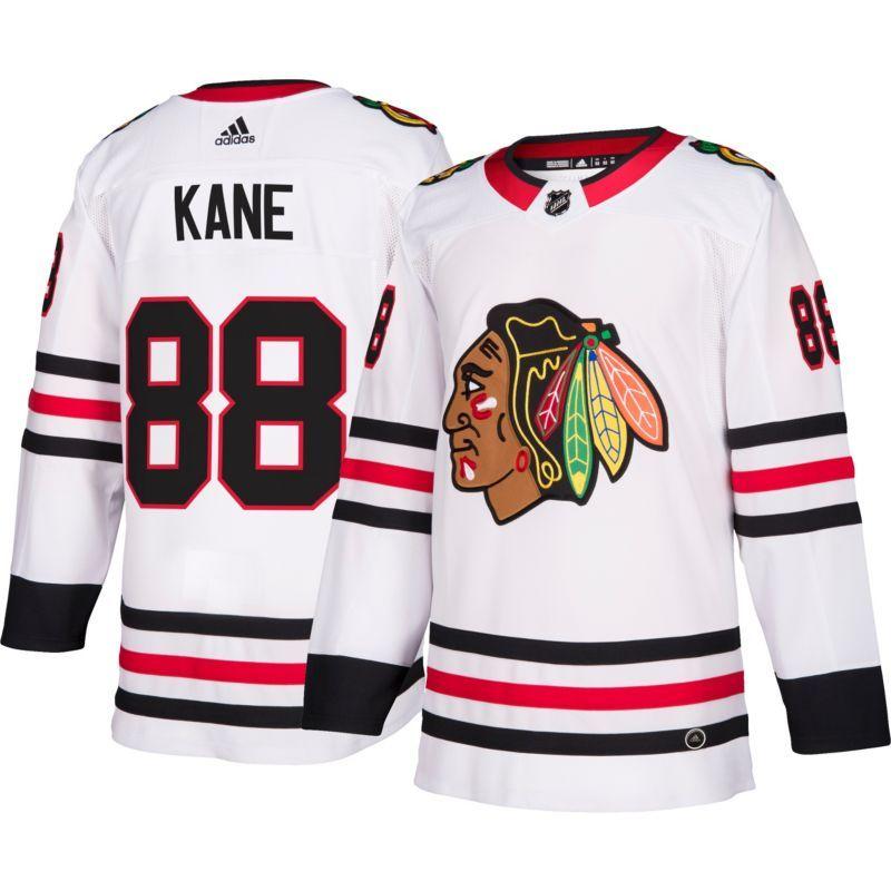 25719476f0d adidas Men's Chicago Blackhawks Patrick Kane #88 Authentic Pro Away Jersey,  Size: 56, Team