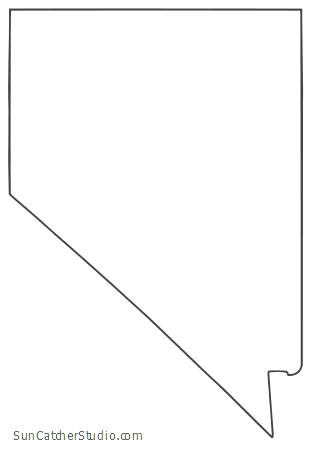 Nevada Map Outline Printable State Shape Stencil Pattern Nevada Map Map Projects Map Outline