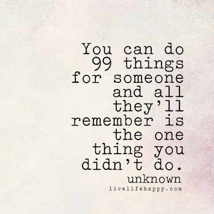 You Can Do 99 Things for Someone