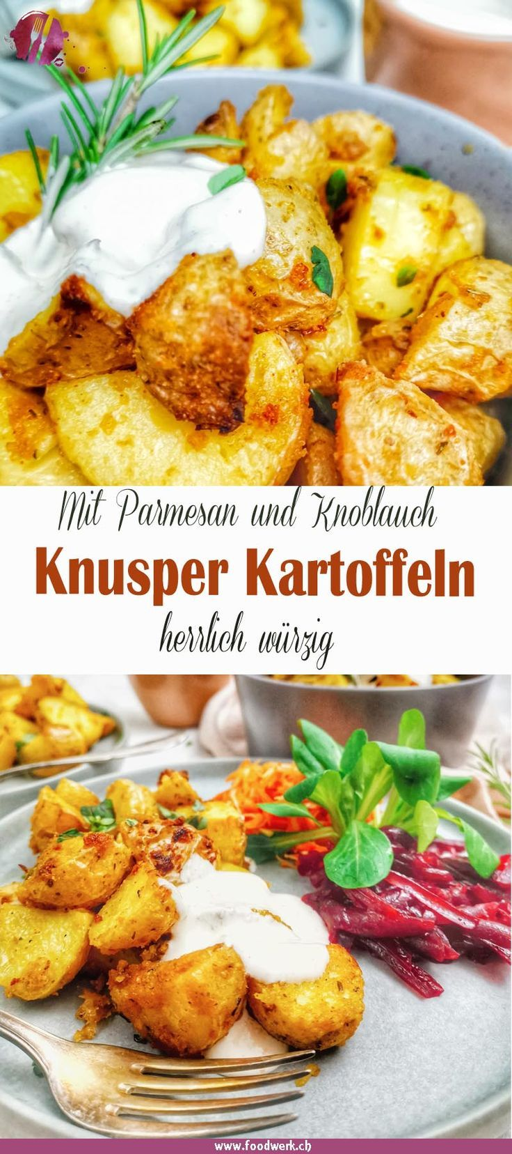 Knoblauch-Parmesan Knusperkartoffeln