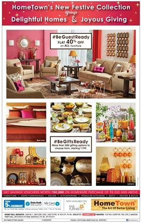Beautiful Flat 40% Off On All Furniture + 5% Cashback On Sbi Cards