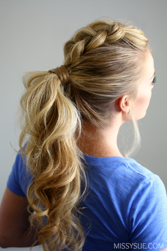 11 Braided Ponytail Tutorials Perfect For Fall Hair Styles Long Hair Styles Mohawk Ponytail