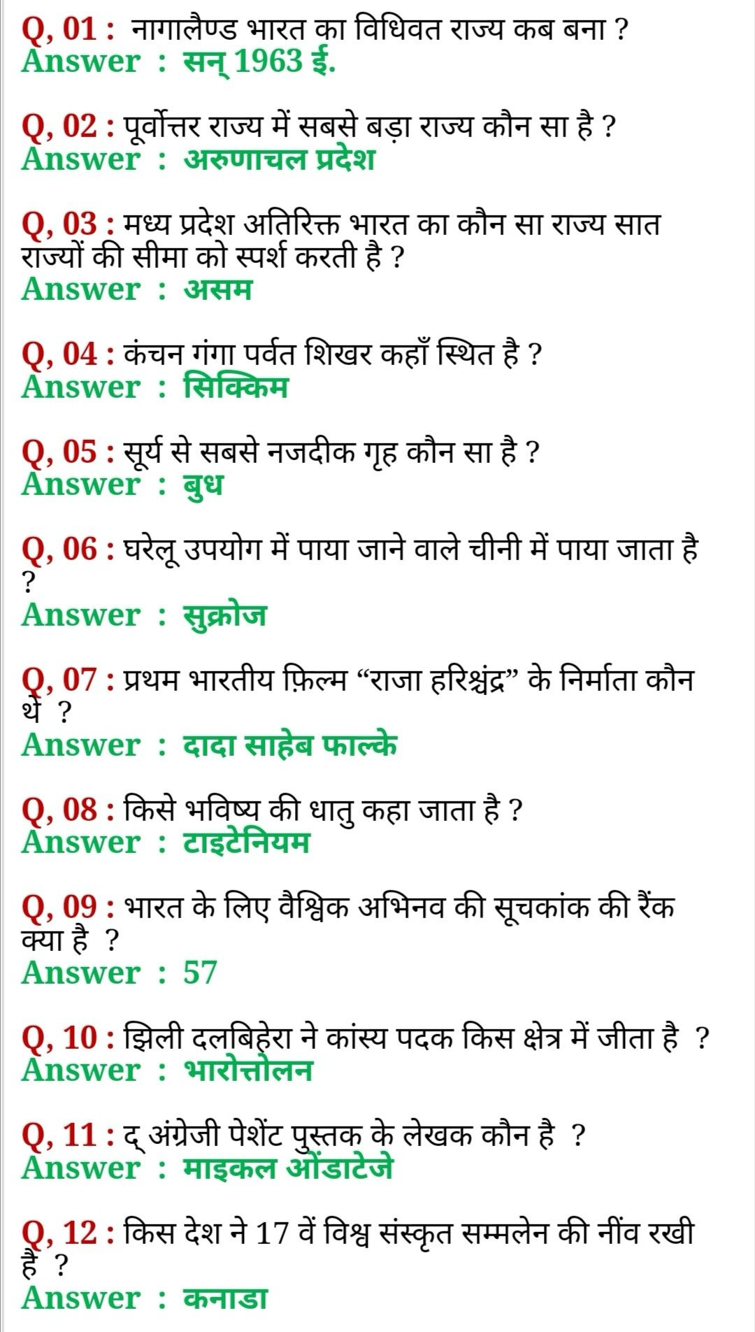 रेलवे सामान्य ज्ञान । Railway Gk Questions In Hindi 2020