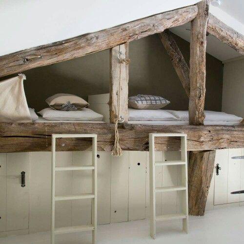 + #bunkbeds #guestroom #kids #attic #storage