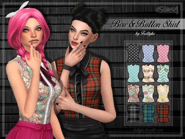 Trilly21's Trillyke - Bow & Button Shirt - Get Together needed