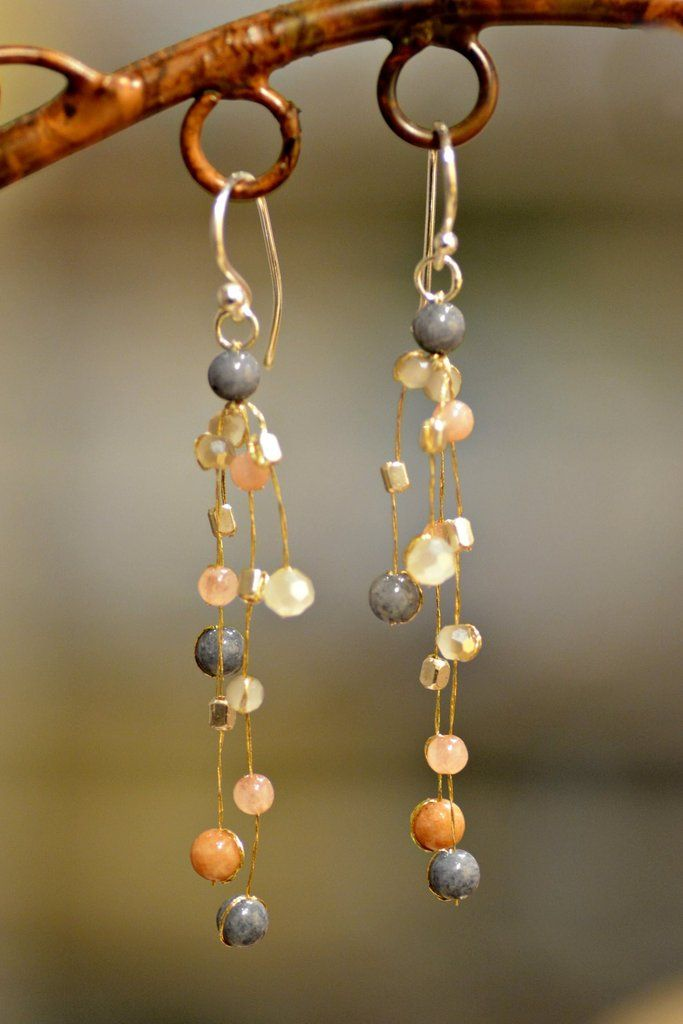 106112472 Fair Trade Akha Reena Warmth Earrings were handmade in the mountains of  Northern Thailand by the Akha tribe. The soft, layered lavender and peach  colored ...