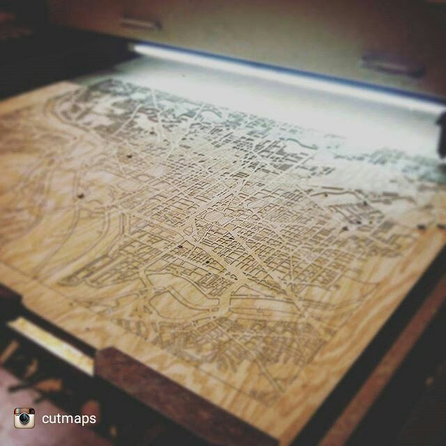 Shop Share  these guys have been on my etsy favourites list for ages. One day I'd love to get @cutmaps done of all the cities I've worked in it would be such a neat momento!! : @cutmaps Guess this city! #cutmaps #lasercut #maps #art #woodworking #shopshare #shopsmall #favourites by engravingwithease