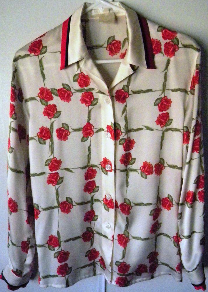 Authentic escada woman silk blouse 34
