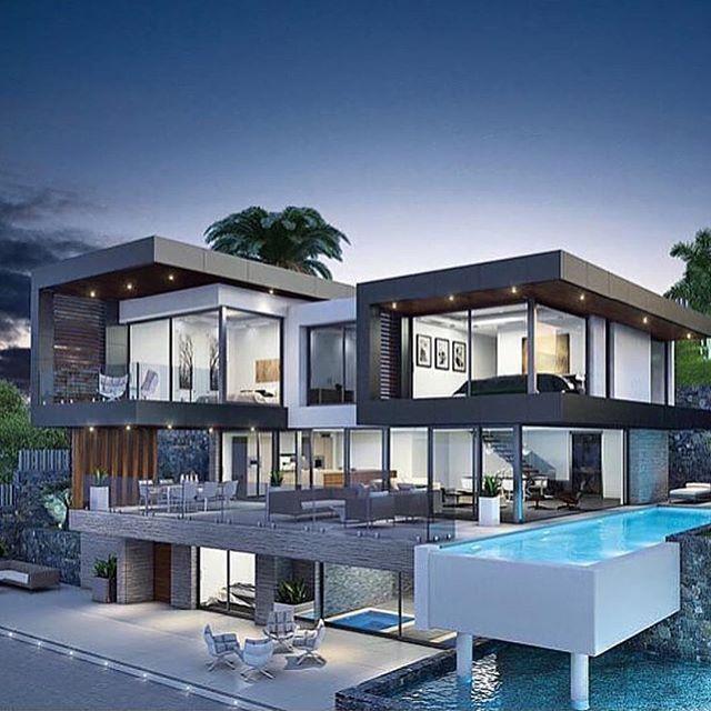 Beautiful Modern Home Modern Mansion Luxury Homes Dream