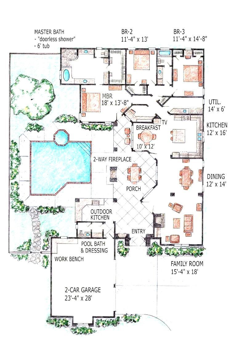18 Awesome Luxury Ranch House Plans With Indoor Pool Image Indoor Pool House P Awesome House In 2020 Indoor Pool House Luxury Ranch House Plans Pool House Plans