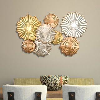 For Stratton Home Decor Multi Metallic Circles Wall Get Free Shipping At Your Online Outlet