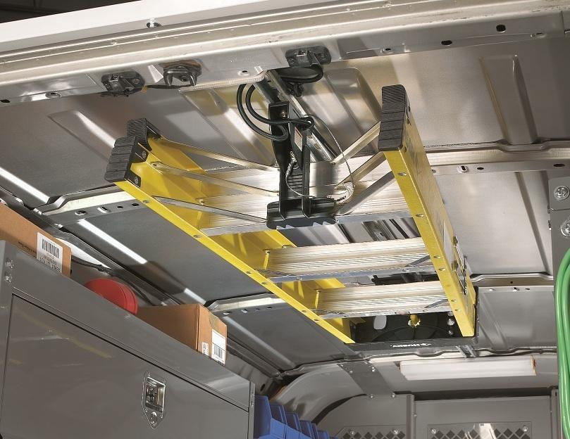 Elegant Jet Rack Step Ladder Storage System From American Van