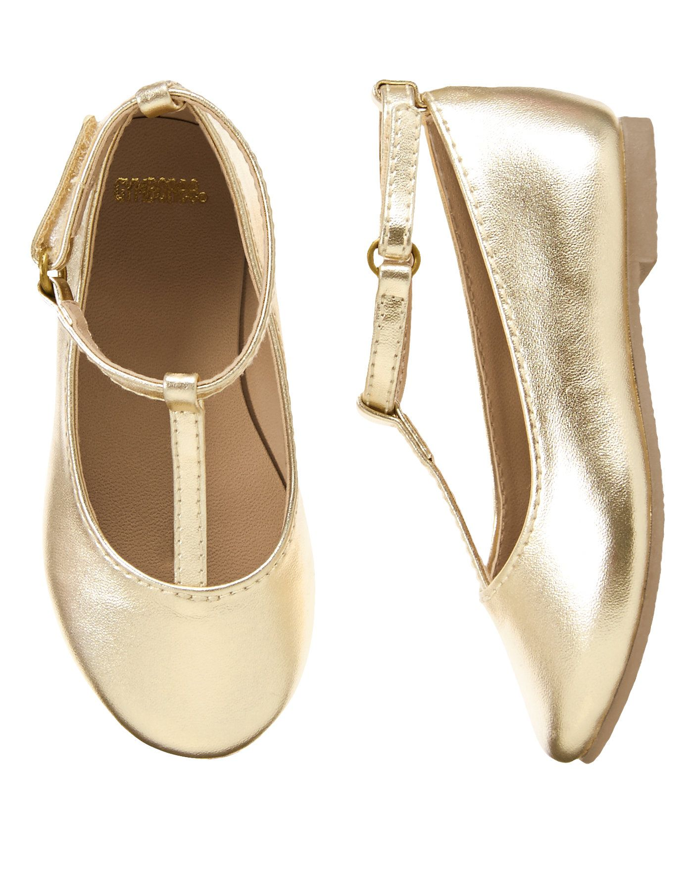 d8074a539cb1 Gold T-Strap Flats at Gymboree