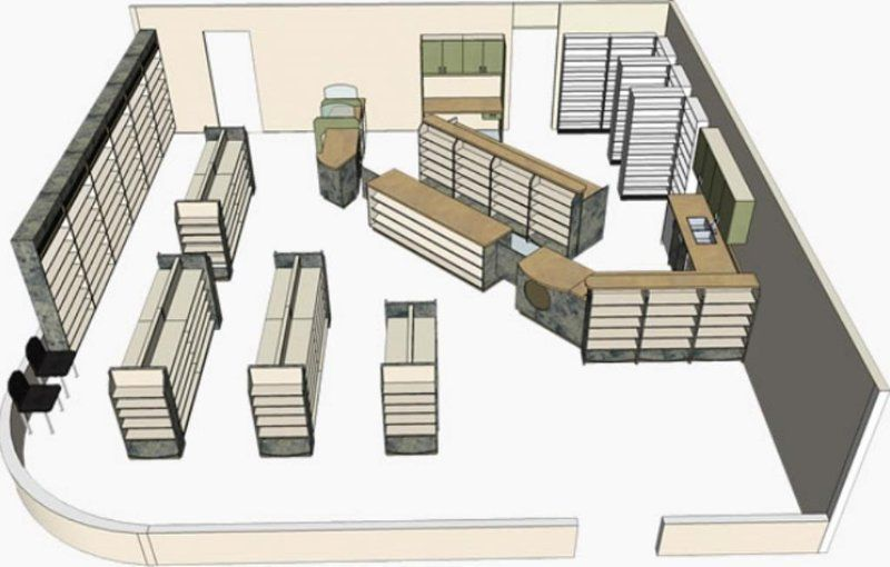 Reimagine a store layout in the digital age the case of for Pharmacy floor plan