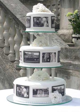 Black and white wedding cake.your own favorite snapshots