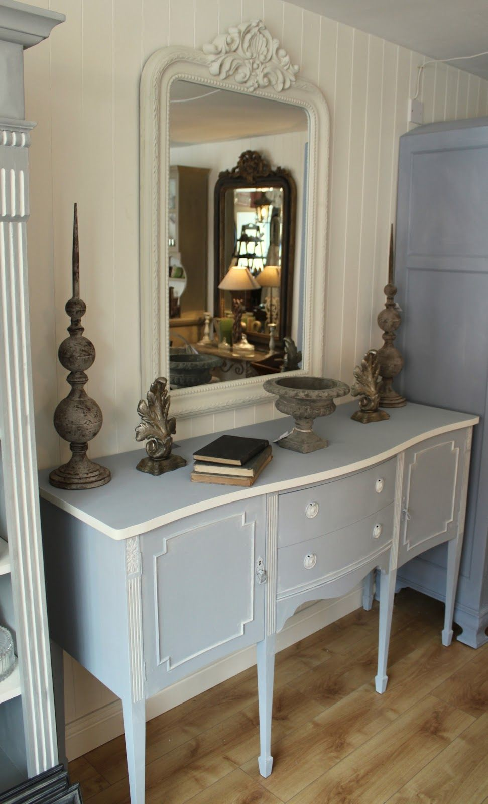 Vintage sideboard painted in annie sloan chalk paint a for How to mix grey paint