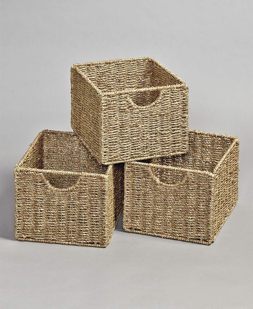 Beadboard Storage Set of 3 Baskets
