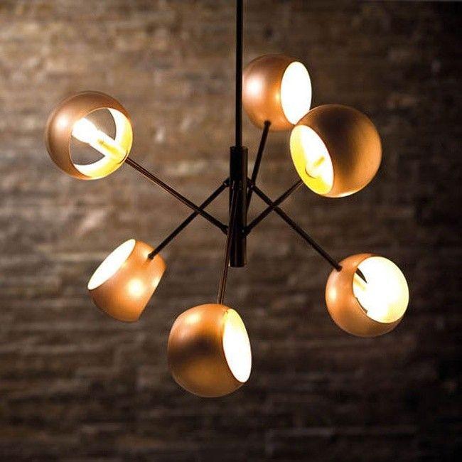 Lampa Wiszaca Cavazza 6 X 40 W E14 Black Gold Lampy Wiszace Lampy Scienne I Sufitowe Ceiling Lights Home Decor Decor