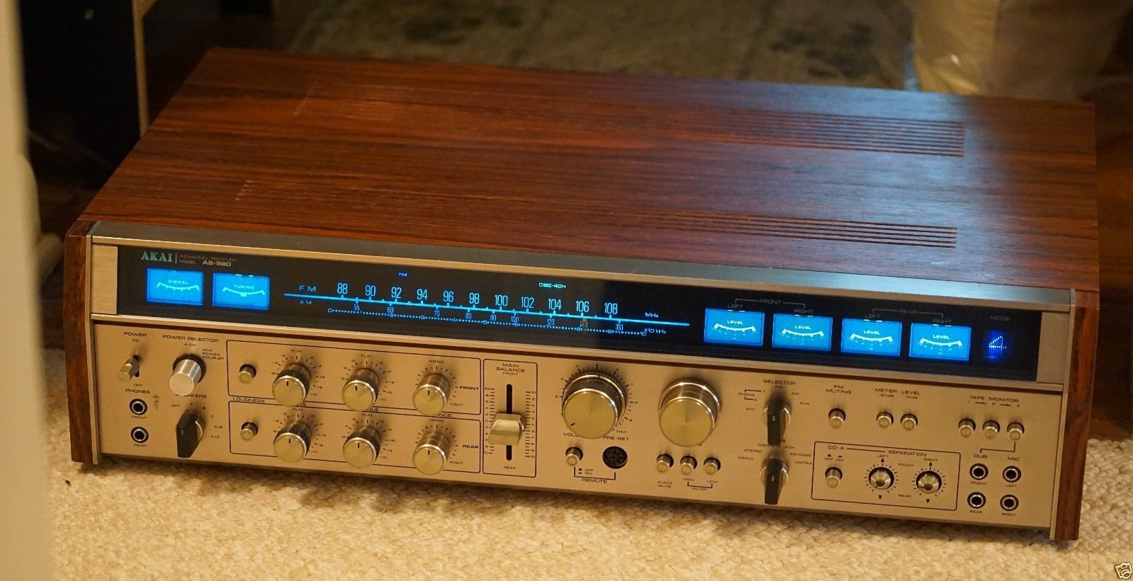 akai as 980 quadraphonic receiver amplifier stereo New Stereo Quadraphonic Amplifier New Stereo Quadraphonic Amplifier