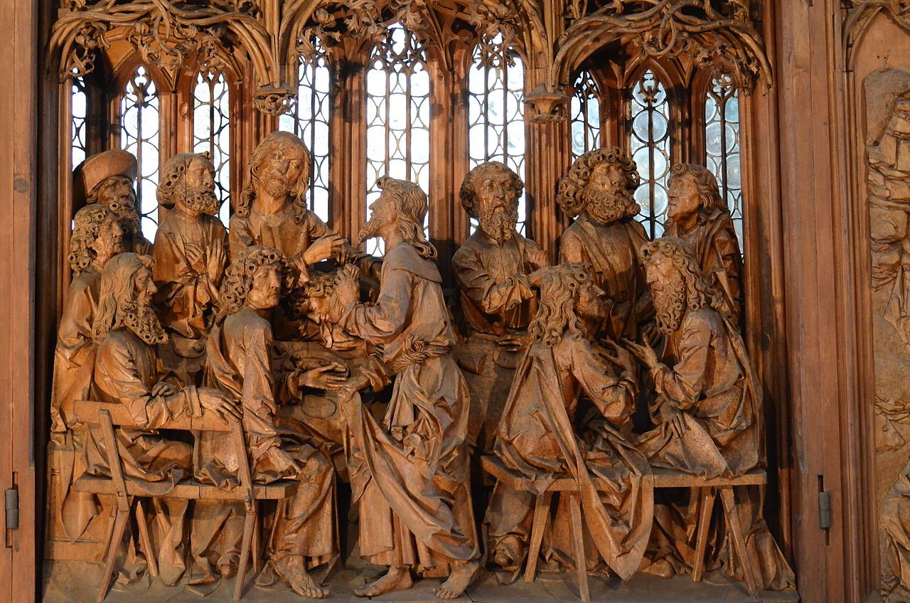 Detail of the last supper from tilman riemenschneider s altar of