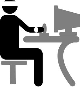 Data Entry Clerk - Royalty Free Clip Art Illustration