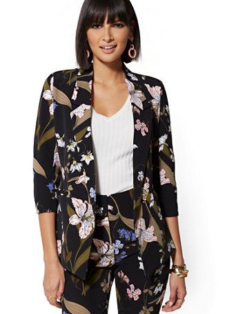 17bcb1968 Shop 7th Avenue - Madie Floral Open-Front Blazer. Find your perfect size  online at the best price at New York & Company.