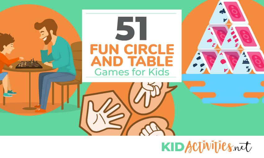 51 Fun Circle And Table Games For Kids Bonus The Best Quiet