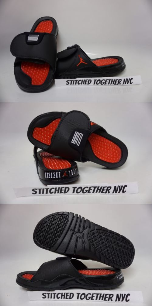 27cf337e1366 Sandals and Flip Flops 11504  (Aa1336-001) Men S Air Jordan Hydro Xi Retro  Black University Red -  BUY IT NOW ONLY   54 on eBay!