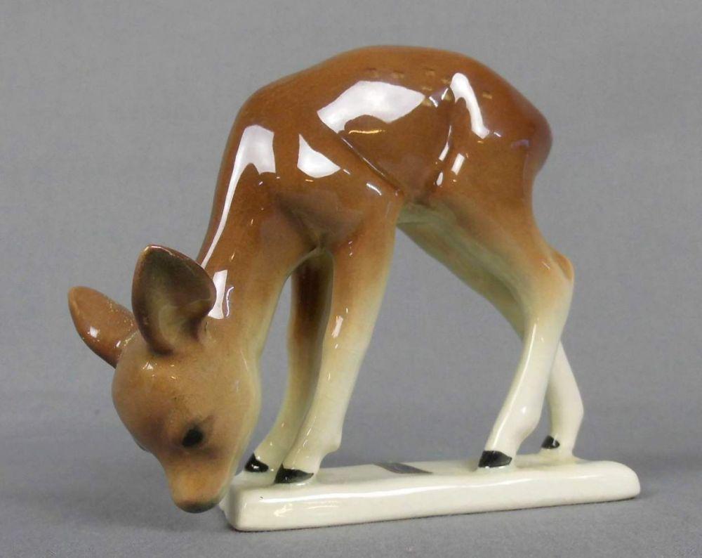 Steingut Keramik figur rehkitz keramik manufaktur cortendorf mit manufaktur