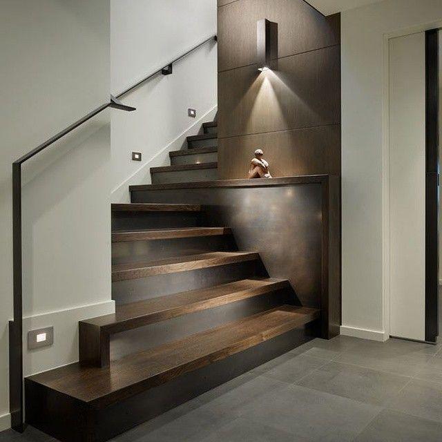 interesante y creativo detalle para la escalera reforzado