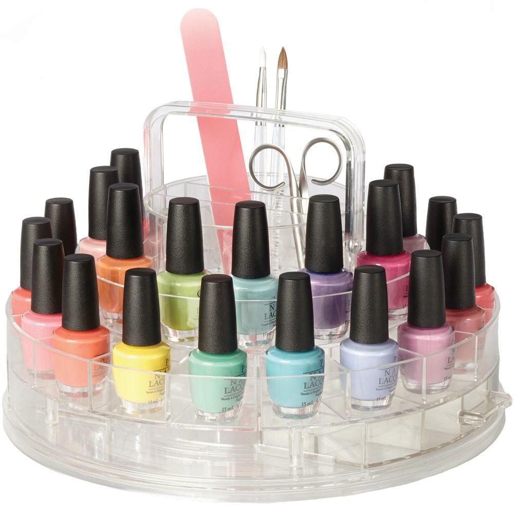 Keep all your nail care supplies accessories and nail polish stored ...