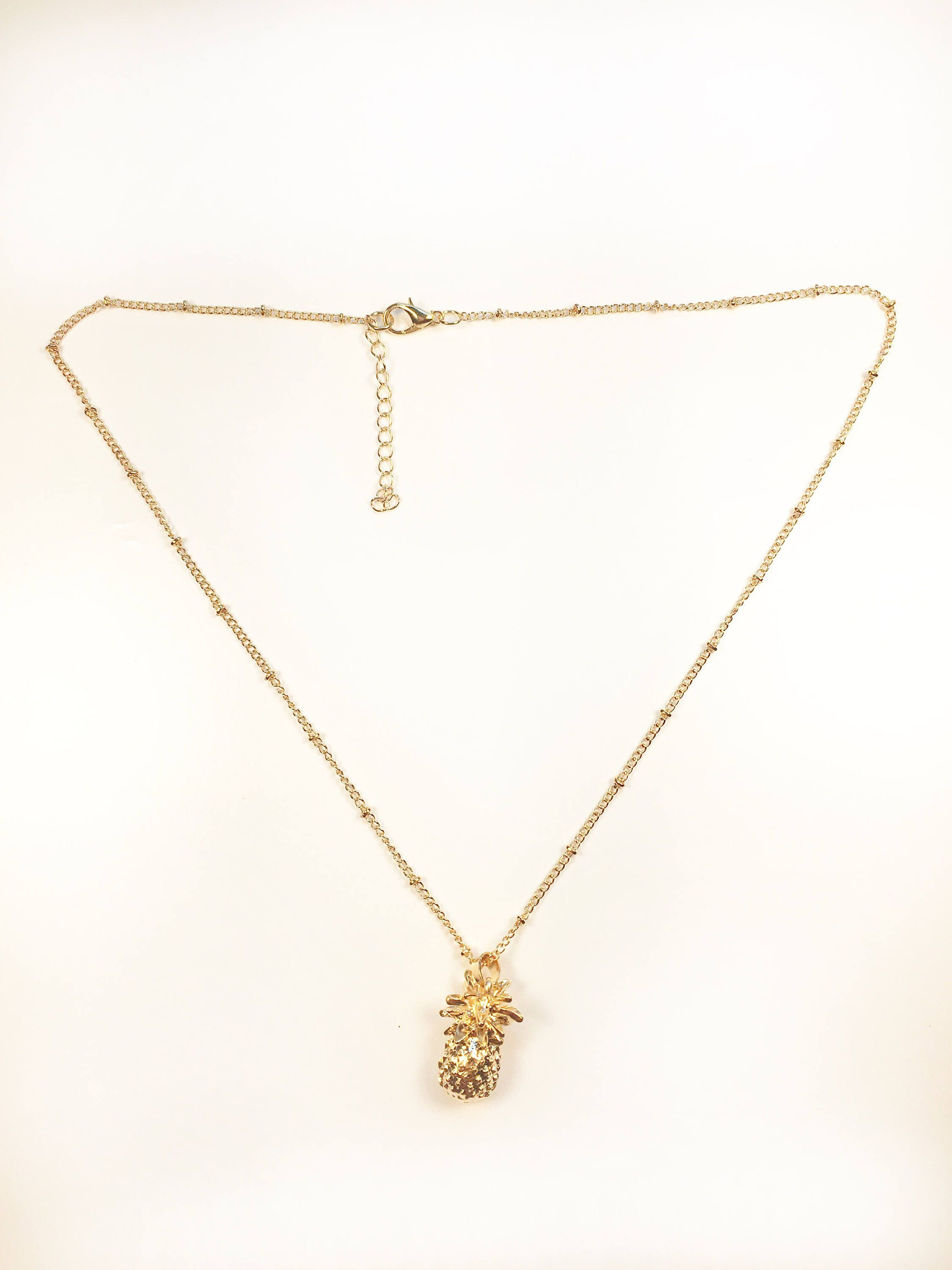 pig designs shop necklace gold skinny pineapple topaz