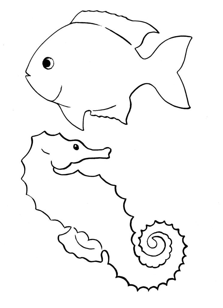 Juhu Bald Fangen Die Sommerferien An Fisch Vorlage Fische Basteln Unter Dem Meer Basteln