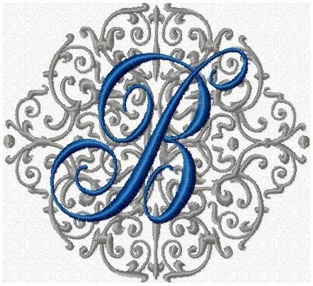 Round Background Flourish Machine Embroidery Design Embroidery