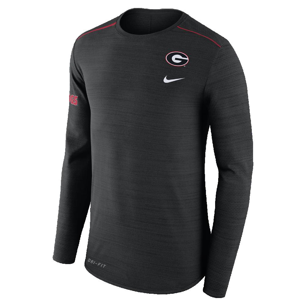 Nike College Breathe Player (Georgia) Men s Long Sleeve Top Size Medium ( Black) 88aacb096