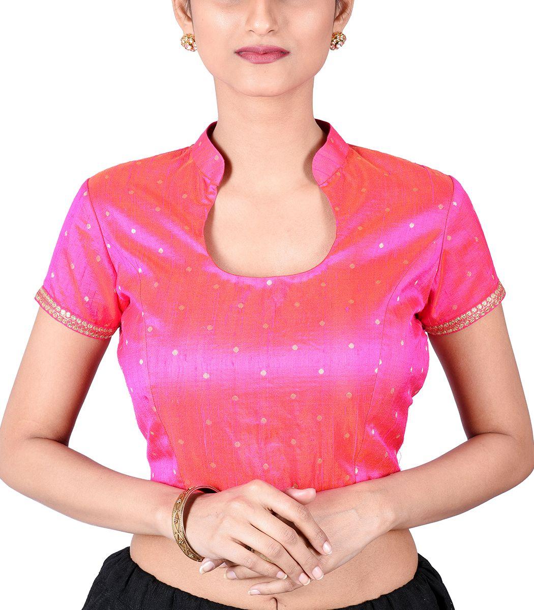Pink brocade designer blouse bl indian silk house agencies also rh pinterest
