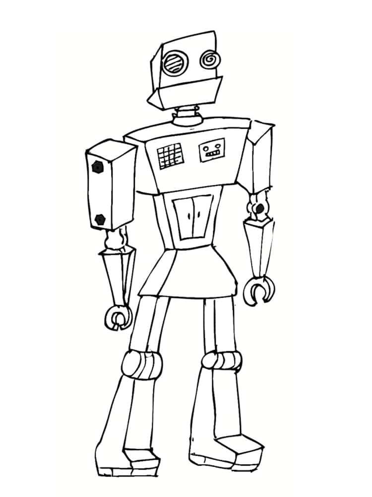 Coloriage Robot 30 Dessins A Imprimer Gratuitement Coloriage