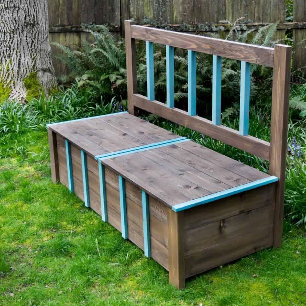 Diy outdoor storage bench diy storage bench outdoor