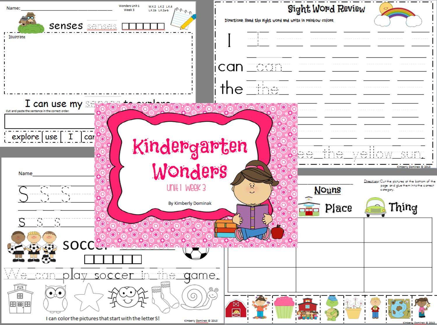 Wonders Reading For Kindergarten Unit 1 Week 3