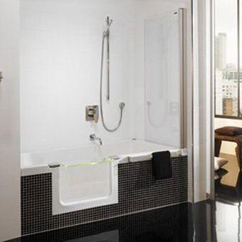 Duscholux Piccolo plastic bath acrylic beveled Step-in me …