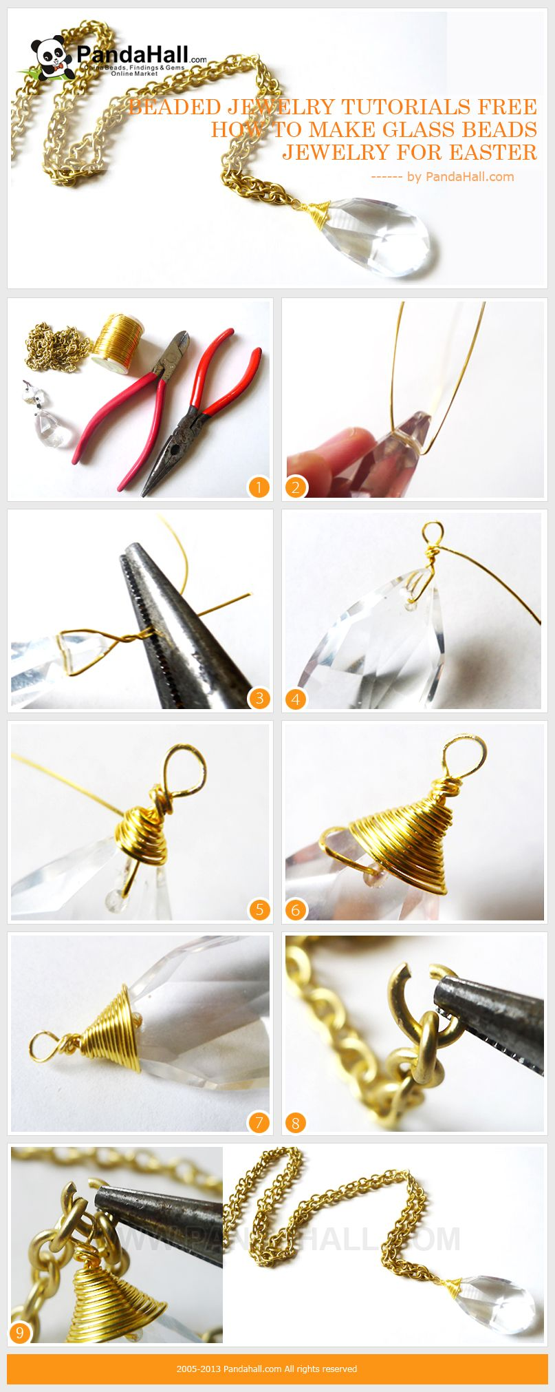 Wanna find some definitely beaded jewelry tutorials free and easy? Just take a look here and you will gain an extremely easy and quick glass beads jewelry for the approaching Easter.