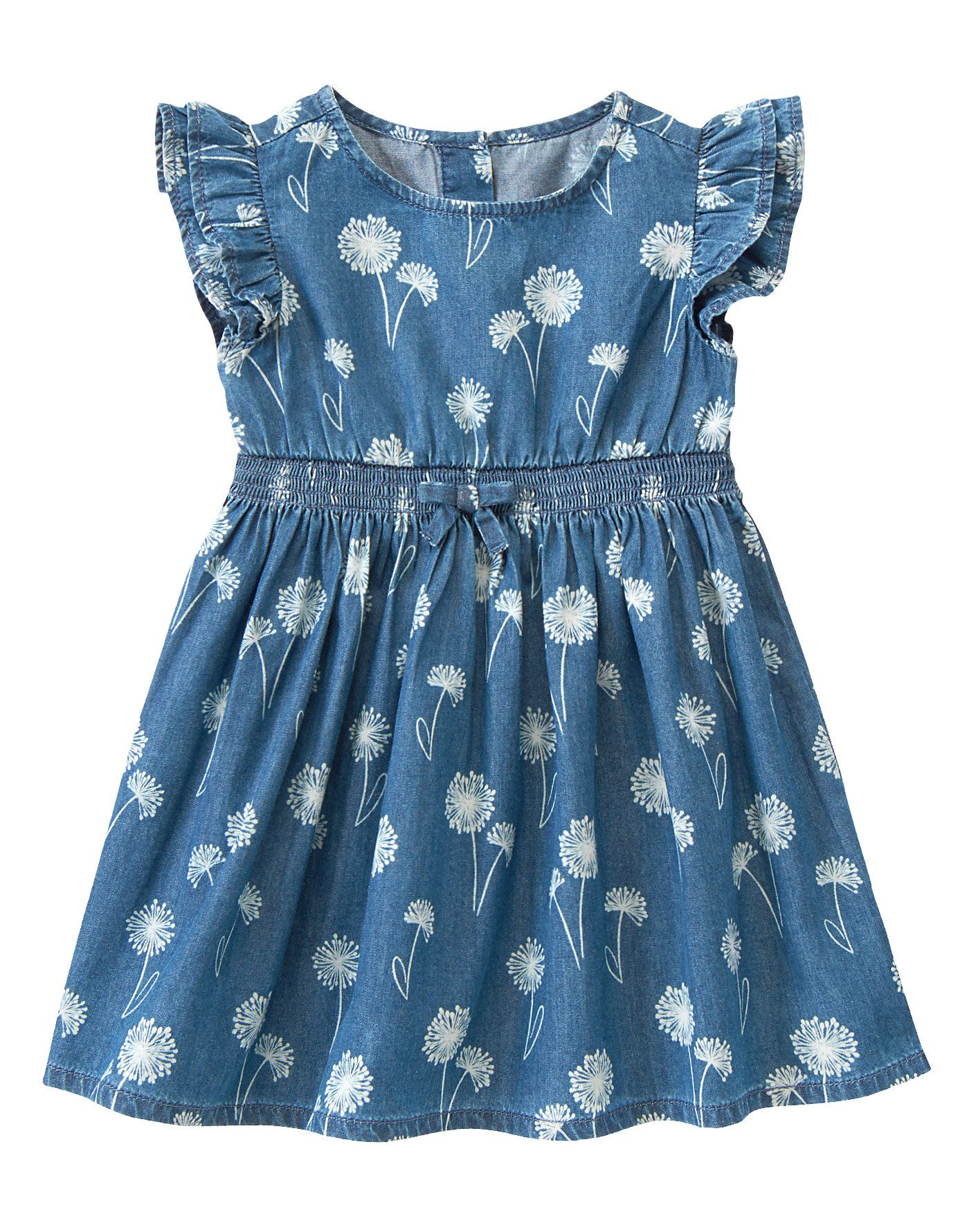 NWT Gymboree Striped Chambray Dress Parisian Afternoon 12 18 24M 3T 4T 5T Girl