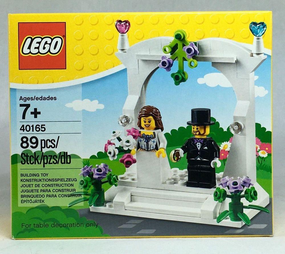 Lego Wedding Cake Topper Favor Set Bride Groom Minifigs - Crazy cake designs lego grooms cake design