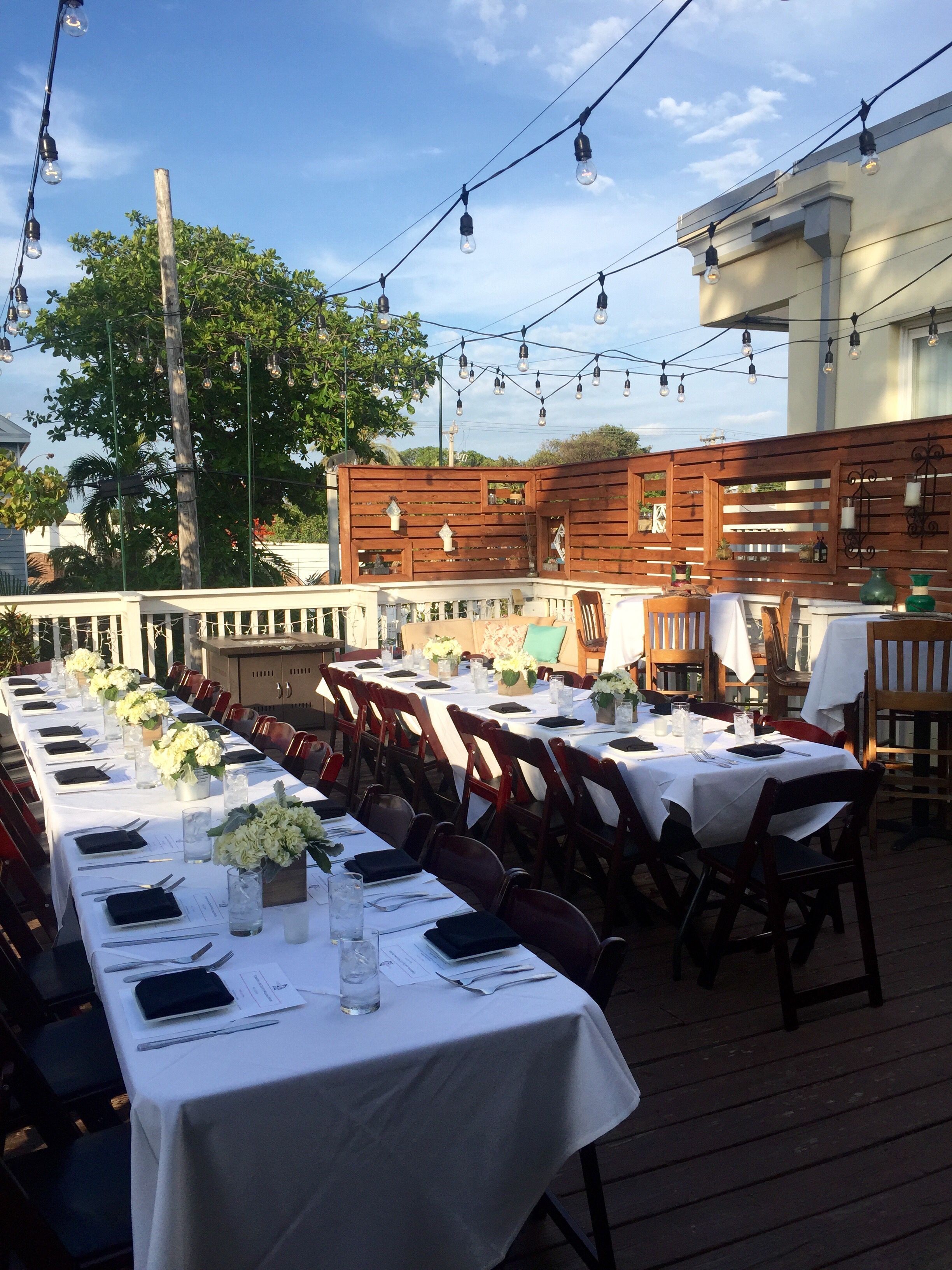 The Moon Lounge Bagatelle Key West Wedding Dinner Venue For Large