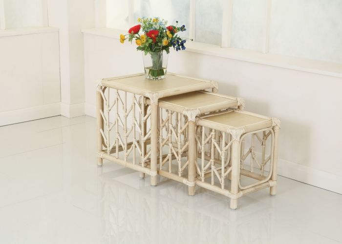 Rattan & Cane Conservatory Furniture - Nest of Tables ...