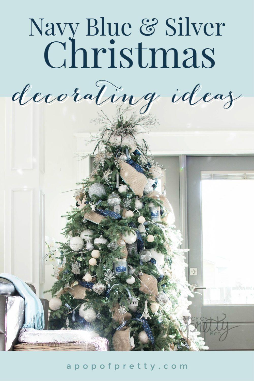 Fresh 19 Blue Christmas Decorations Ideas Blue Christmas Decor Blue Christmas Tree Decorations Silver Christmas Decorations